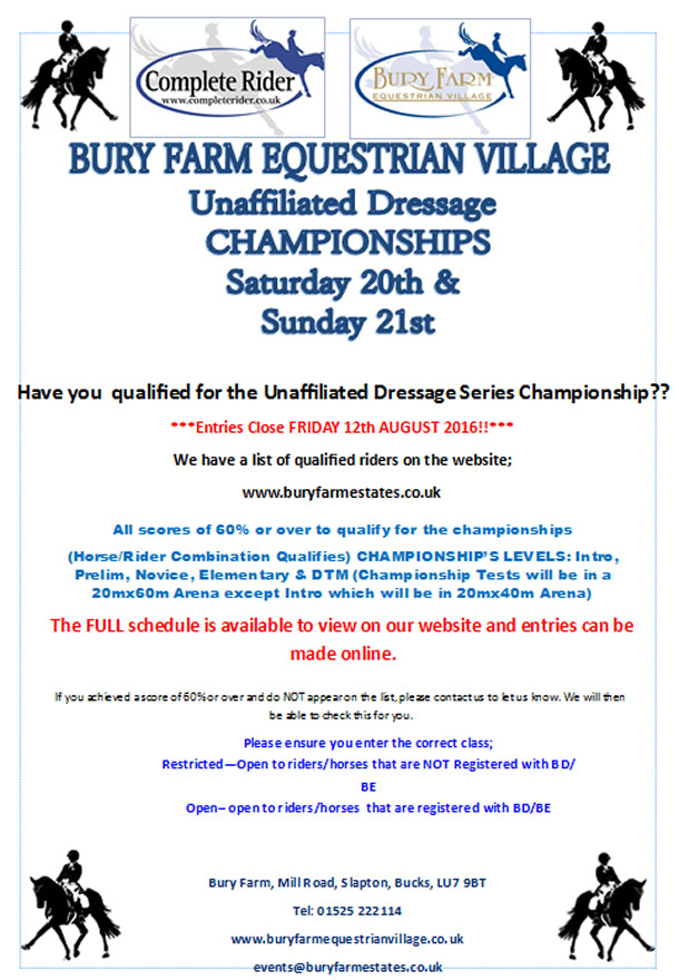 Bury Farm Dressage Championships